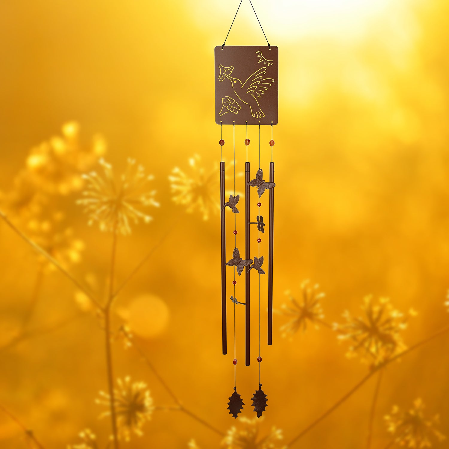 Victorian Garden Chime - Hummingbird lifestyle image