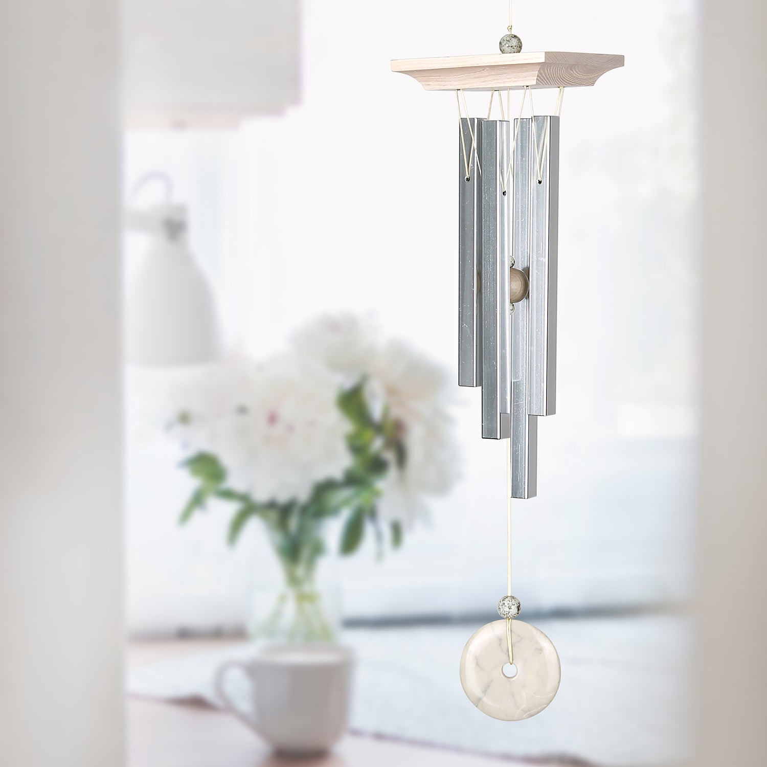 White Marble Chime lifestyle image