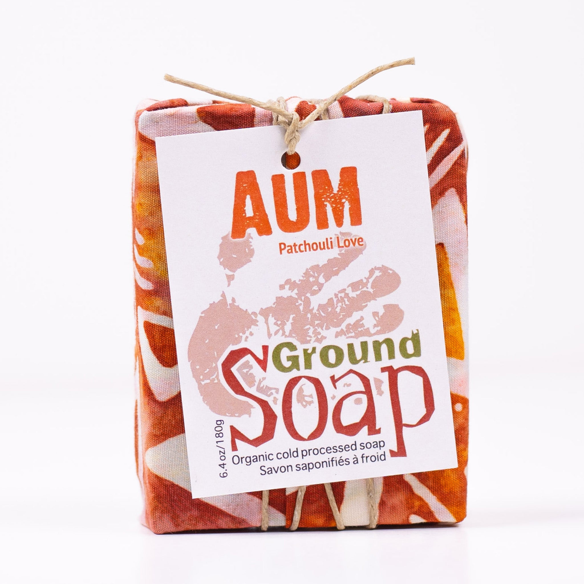 Aum Patchouli essential oil organic bar soap from Ground Soap.