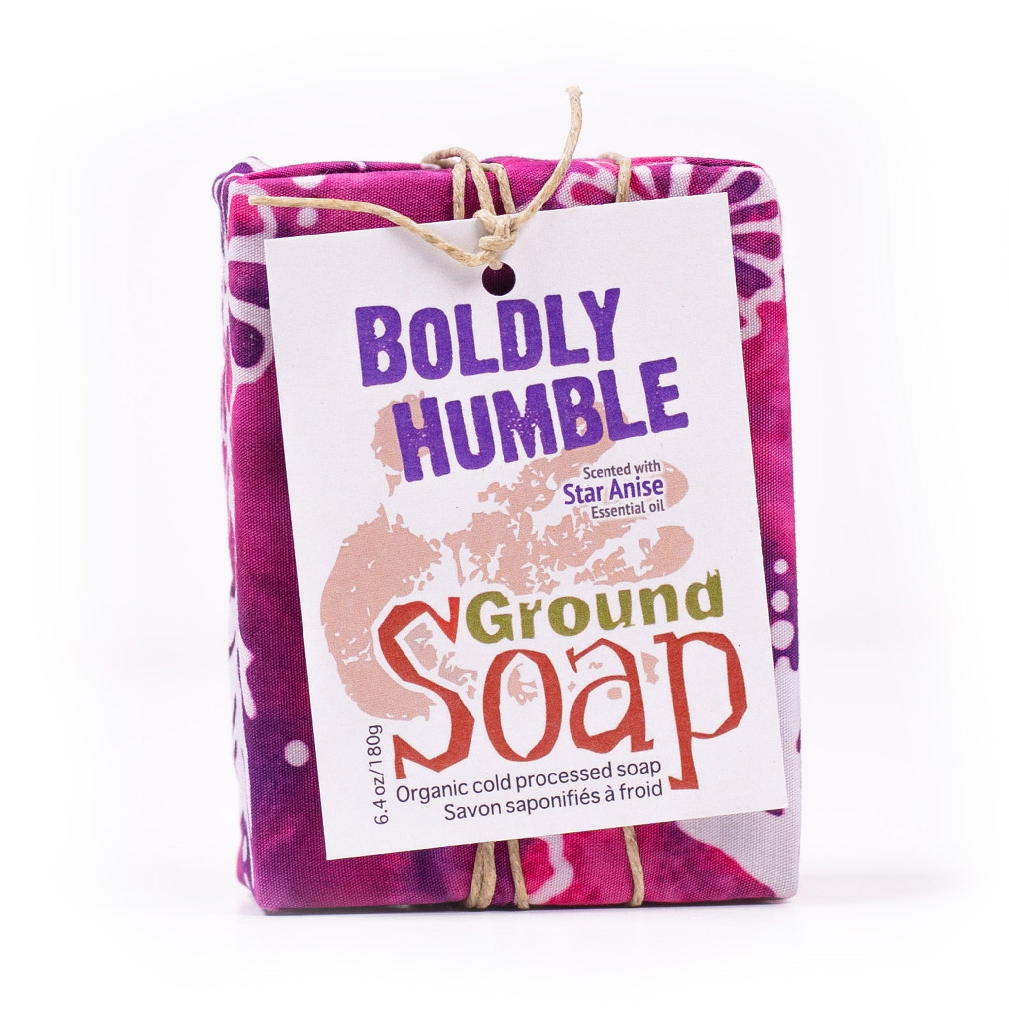 Boldly Humble star anise essential oil organic bar soap from ground Soap.