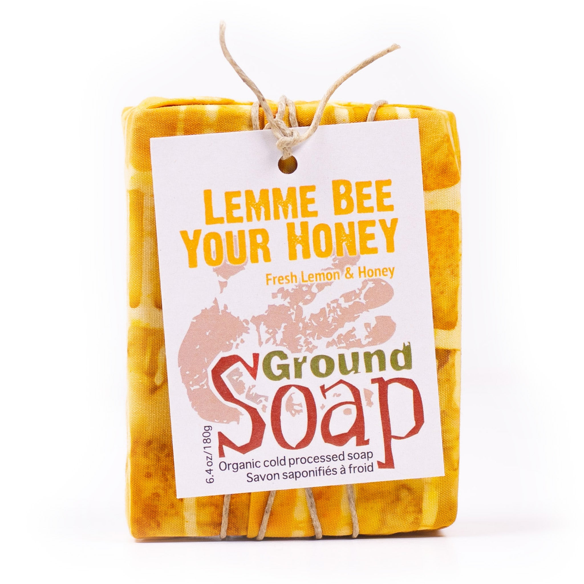 Lemme Bee Your Honey lemon essential oil and honey organic bar soap from ground Soap.