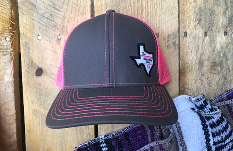 Hat Charcoal/Neon Pink