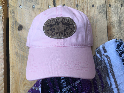 Pink Hat With Suede Patch