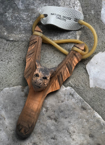 Carved Bat Slingshot