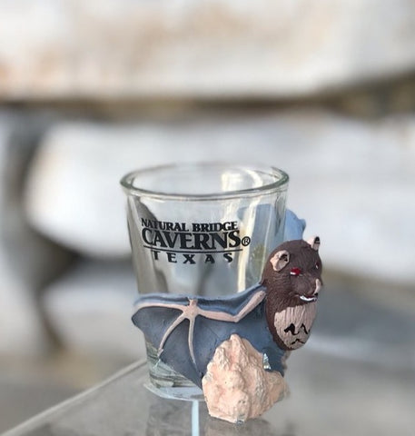 Shot Glass With Clinging Bat