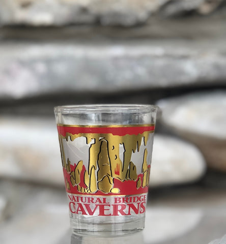 Red and Gold Shot Glass