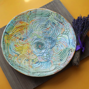 Large Blooming Platter