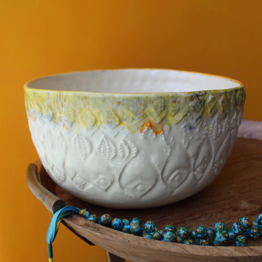 Swirling Carved Bowl