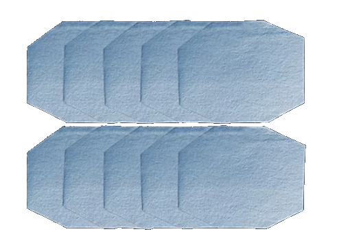 10-Pack Extra BLUE SHOP TOWEL Disposable Filters (ADULT Size)
