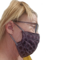 Cheryl's Maroon Honeycomb Face Mask (1 ADULT Size Mask + 5 Filters)