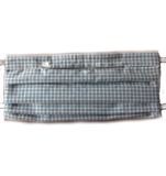 Janie's Blue & White Plaid Face Mask (1 ADULT Size Mask + 5 Filters)