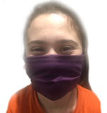 Rebecca's Bold Purple 4-Tie Face Mask (1 ADULT Size Mask + 5 Filters)