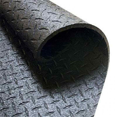 4' x 6' Solid Rubber Gym Mat 3/8