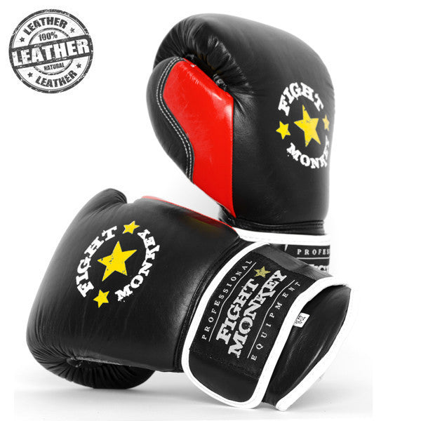 Fight Monkey Professional Series 16oz Leather Gloves