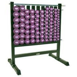Dumbbell Storage Rack w/ 44 Neoprene Pairs DB