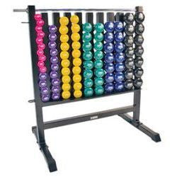 Dumbbell Storage Rack w/ 44 Deluxe Vinyl DB Pairs Dumbbell Storage Rack w/ 44 Vinyl Pairs DB
