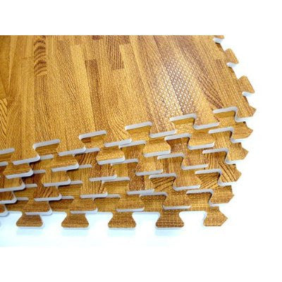 4pcs. Interlocking Floor Mats- Wood Grain