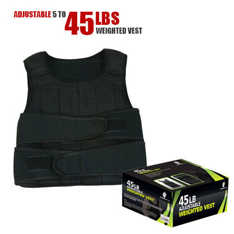 45lbs Adjustable Weighted Vest