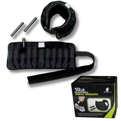 Adjustable Ankle weights 10lbs