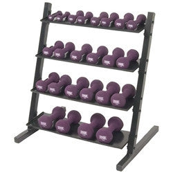 Neoprene Vinyl Horizontal  DB Rack w/ Neoprene DB Set 1-15 lb