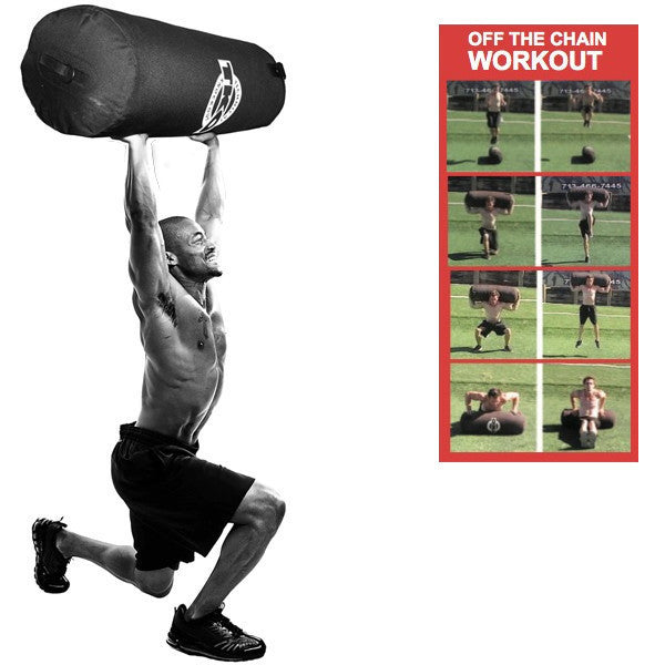 TKO OFF the Chain Workout: 50 lbs Double Shell Canvas Heavy Bag