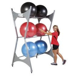 Elite Stability Ball Storage Rack 6 Ball Capacity with Casters