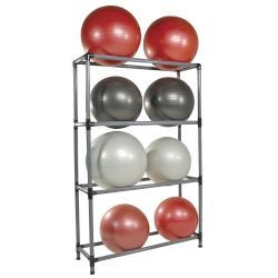 Stability Ball Storage Rack 16 Ball Rack with Casters