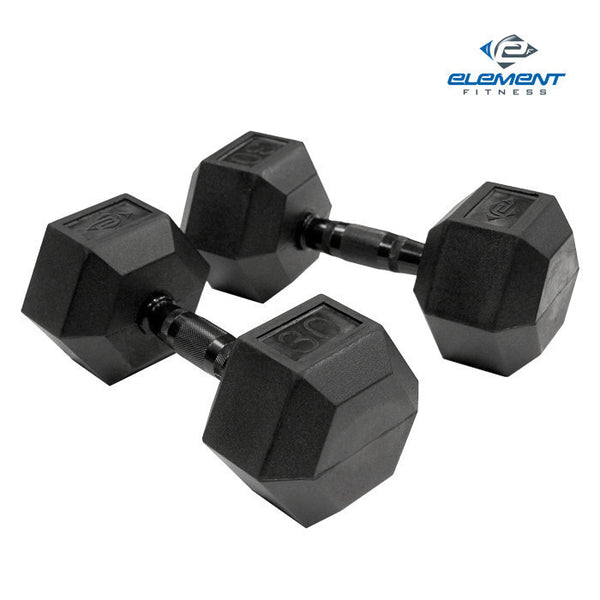 Virgin Rubber Hex Dumbbells