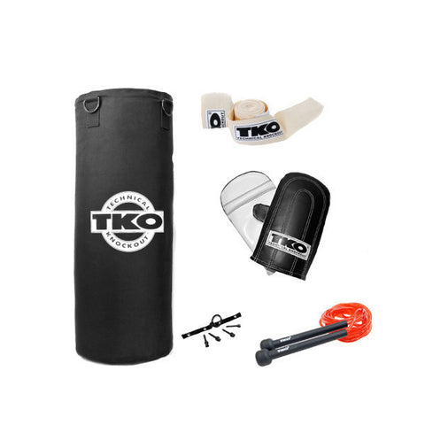 TKO All Purpose Canvas 50lbs Heavy Bag Set: Bag Chain Included