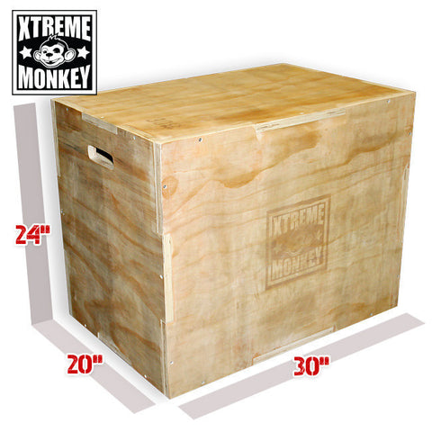 3-in-1 Wood Plyo Box