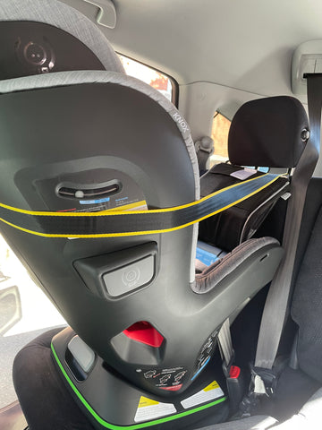 multi directional top tether on a knox car seat