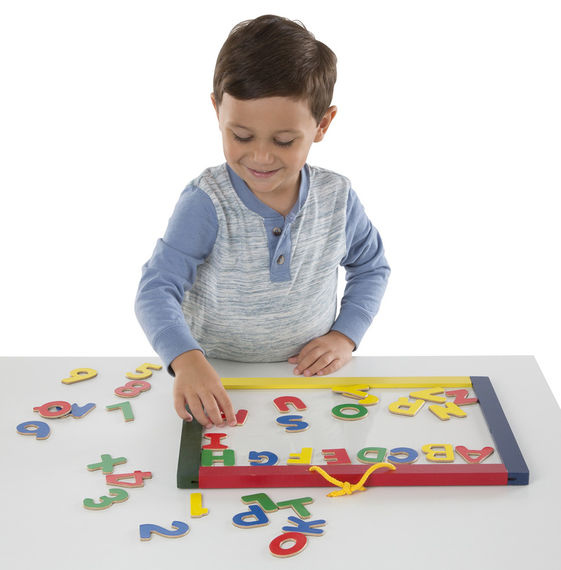 Melissa & Doug Magnetic Chalk & Dry Erase Board