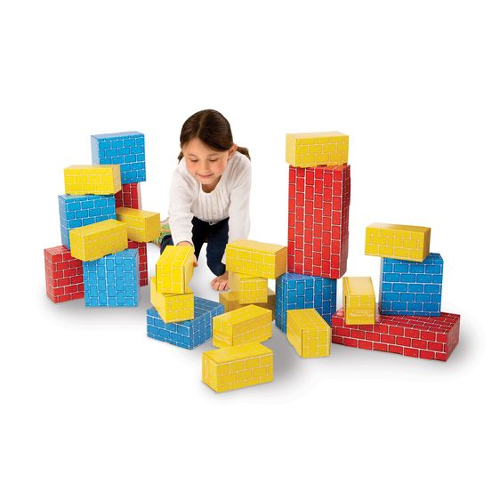 Melissa & Doug Jumbo Cardboard Blocks 24ct