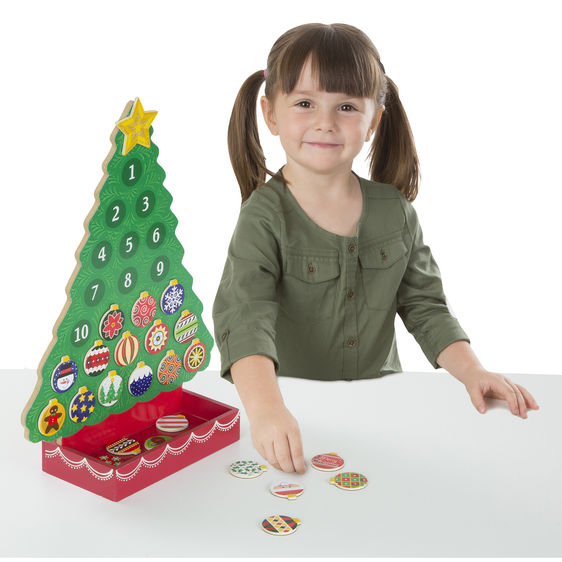 Melissa & Doug Countdown to Christmas Wooden Seasonal Calendar