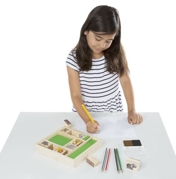 Melissa & Doug Stamp Set Safari Animals