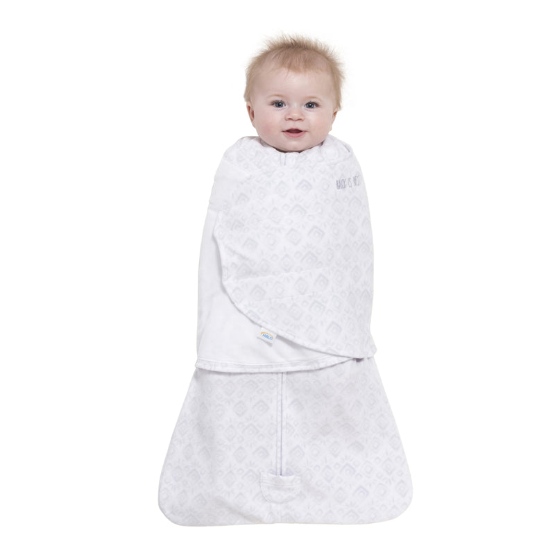 Halo SleepSack Swaddle Fleece Diamonds & Leaves Grey