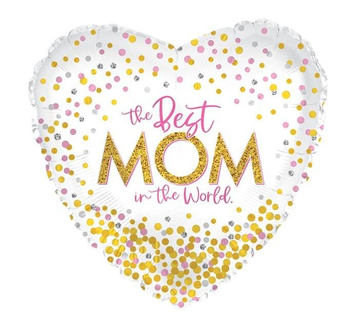"17"" Best Mom In The World Balloon - Tadpole"