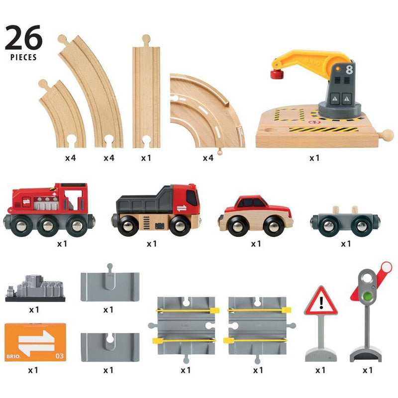 Brio Road & Rail Crane Set