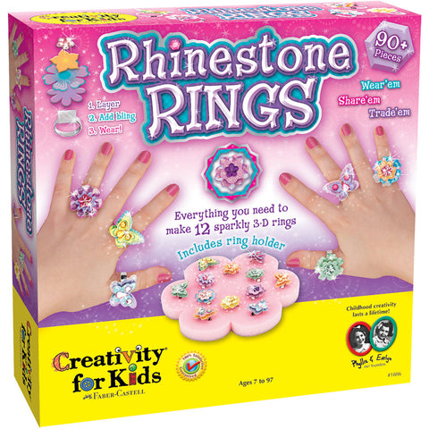 Creativity For Kids Rhinestone Rings