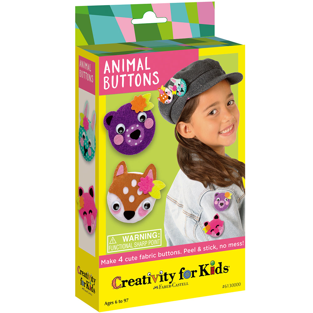 Creativity For Kids Mini Kit Animal Buttons