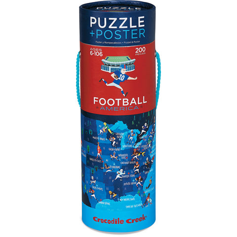 Crocodile Creek Puzzle & Poster Football