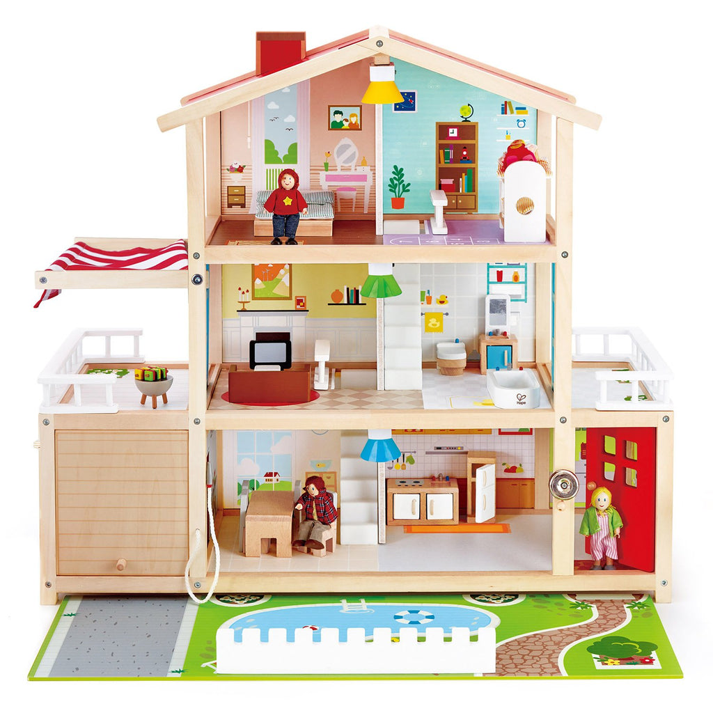 Hape Doll Family Mansion + Furniture - Tadpole