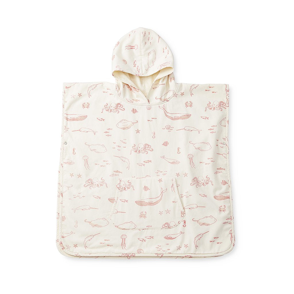 Petit Pehr Pink Grapefruit Hooded Poncho Towel