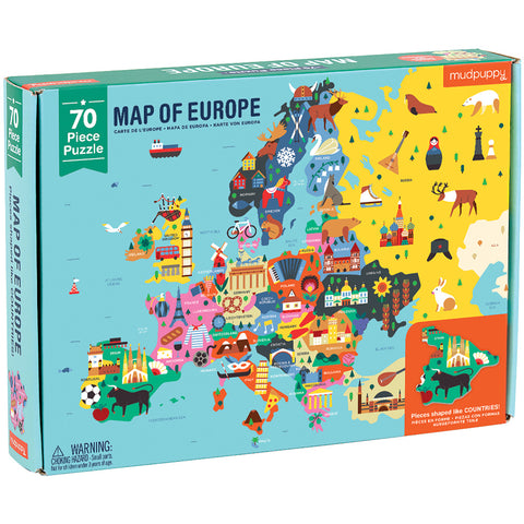 Mudpuppy Geography Puzzle Map of Europe