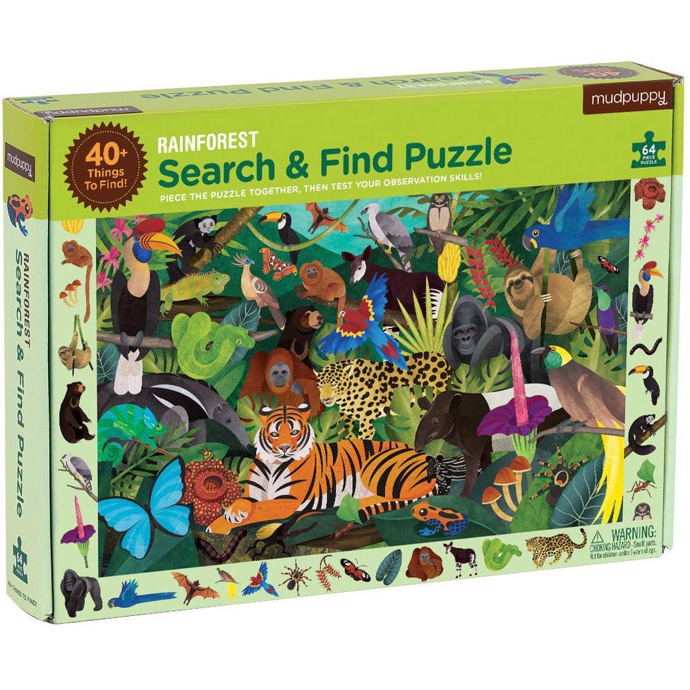 Mudpuppy Search & Find Puzzle Rainforest
