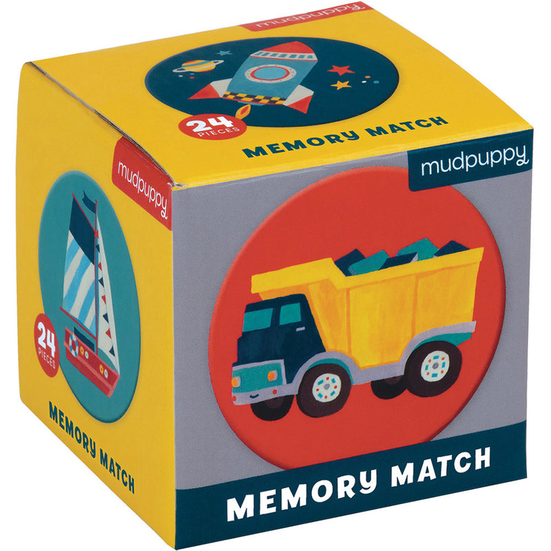Mudpuppy Mini Memory Match Transportation