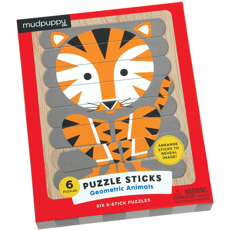 Mudpuppy Puzzle Sticks Geometric Animals