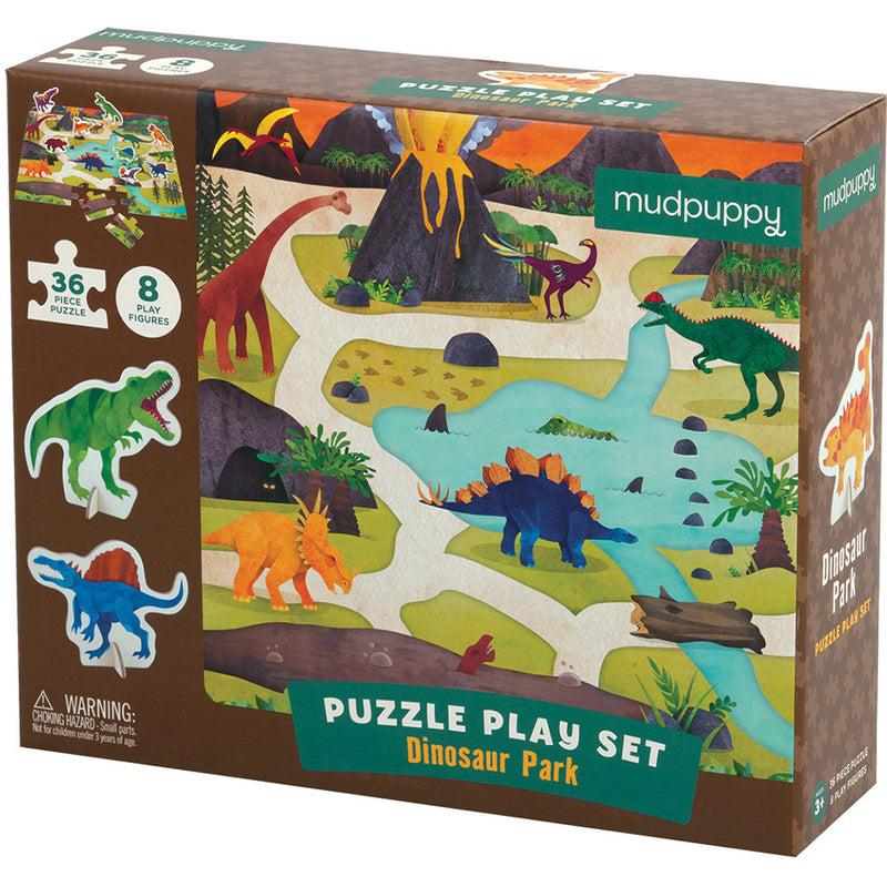 Mudpuppy Puzzle Play Set Dinosaur Park