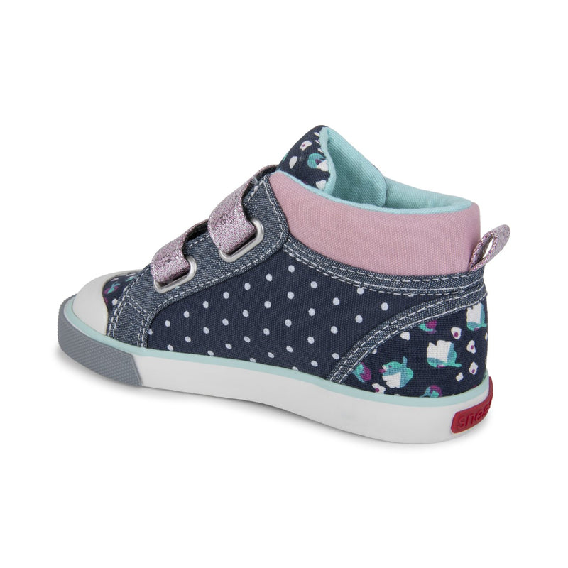 See Kai Run Sneaker Kya | Navy Dot Mix