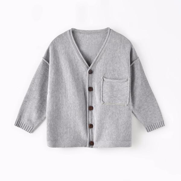 Aimama Basic Button-Down Cardigan - Tadpole